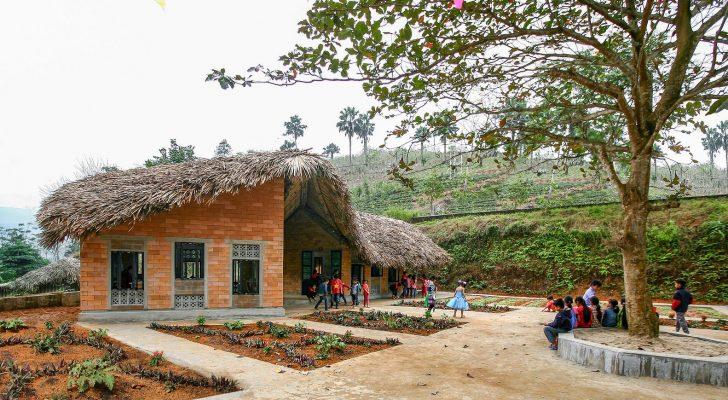 Bên Trong trường tiểu học ở Lào Cai được xây dựng bởi các kiến trúc sư Hà Nội