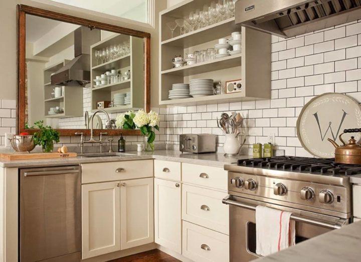 mẫu gương cho nhà bếp