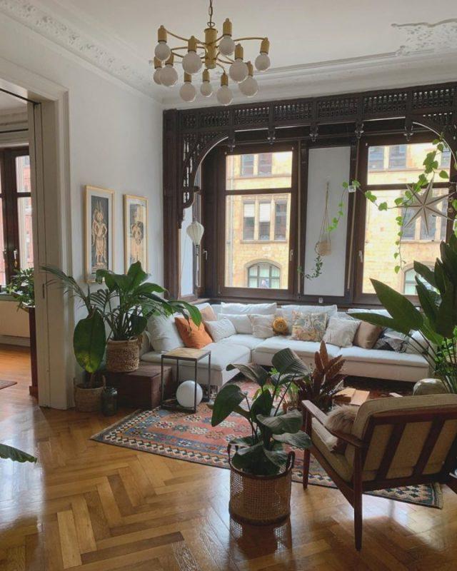 sử dụng gỗ tự nhiên cho phòng khách
