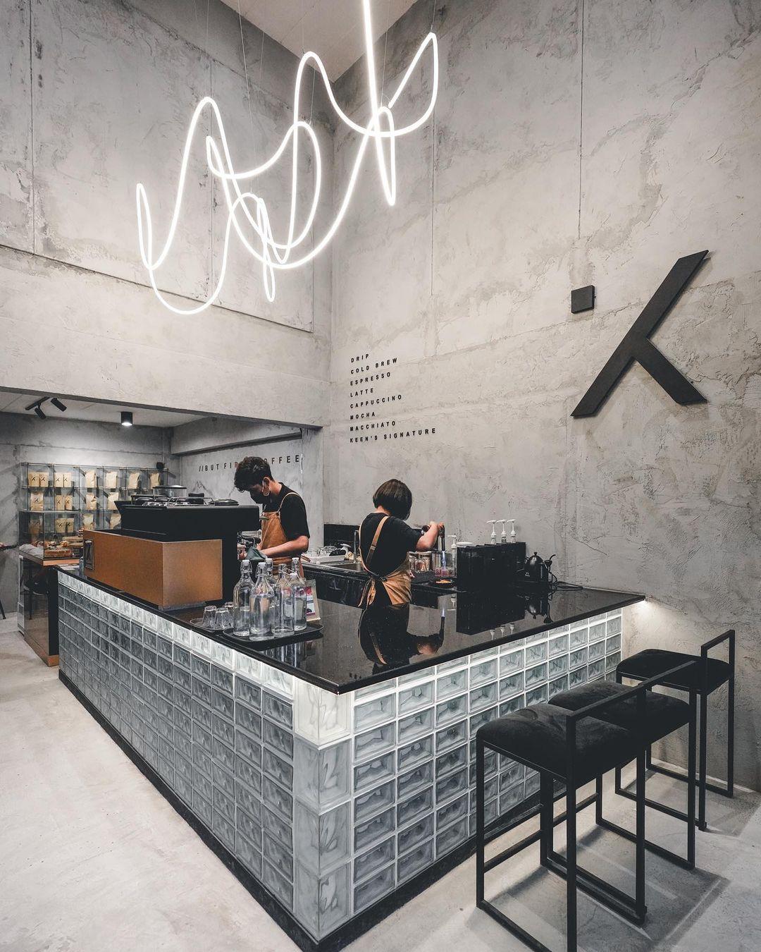 Quầy Bar Quán Cafe Tối Giản