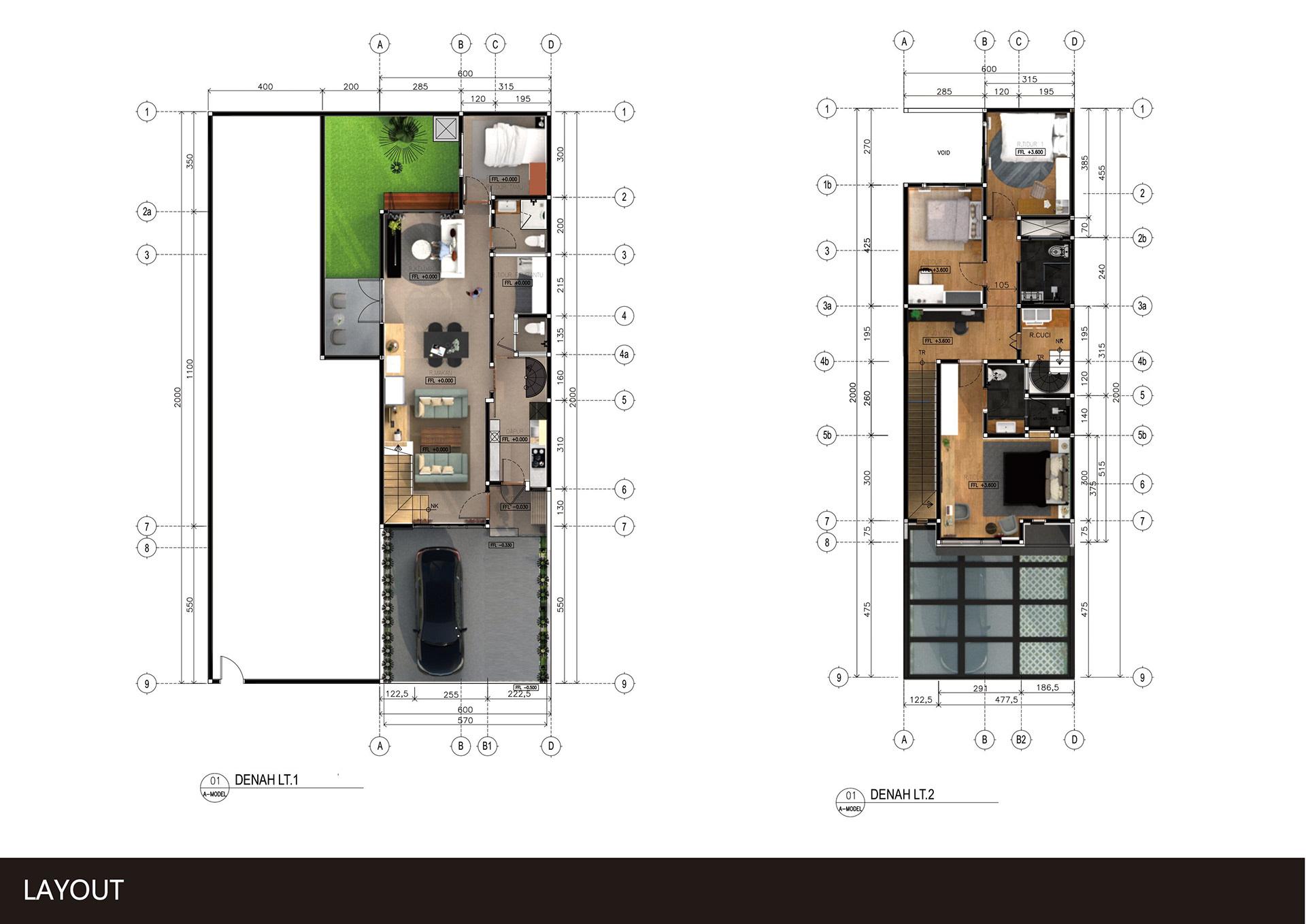 Bản Vẽ Mẫu Nhà Ở 2 Tầng Đà Nẵng