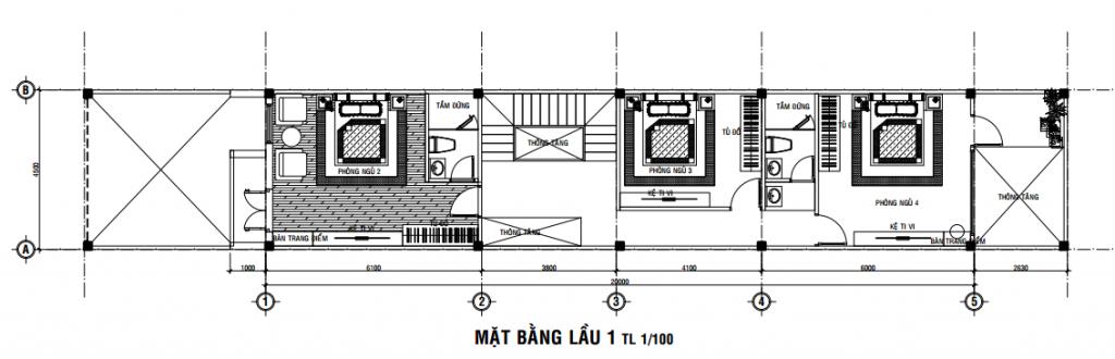 Bản Vẽ Thiết Kế Nhà 3 Tầng