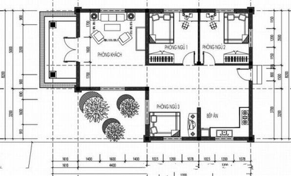 Bản Vẽ Nhà Ở Cấp 4 Đơn Giản